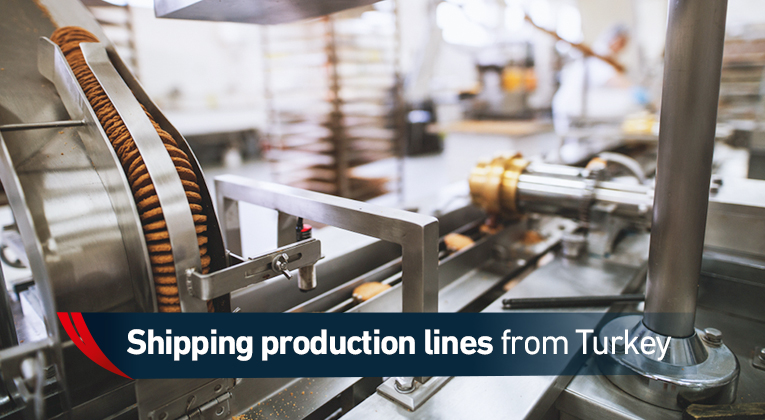 Shipping production lines from Turkey